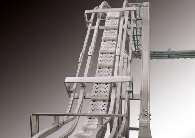 Protek srl Convogliatore curvilineo sul piano orizzontale e verticale per scatole