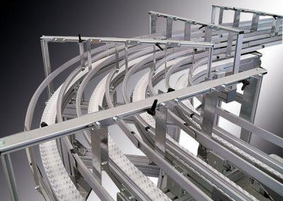 Protek Srl Sistema di trasporto a catena rotoli carta igienica a quattro canali